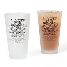 against romney Drinking Glass