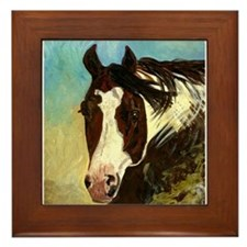 Paint Halter Horse Framed Tile