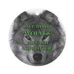 Save Idaho Wolves Ornament (Round)
