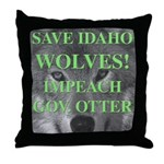 Save Idaho Wolves Throw Pillow