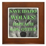 Save Idaho Wolves Framed Tile