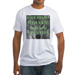 Save Idaho Wolves Fitted T-Shirt
