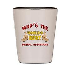 Thumbs Up Worlds Best Dental Assistant Shot Glass