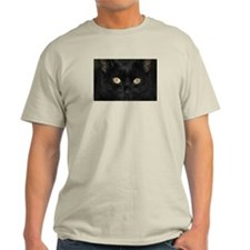Black Cat Ash Grey T-Shirt