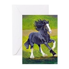 Shire Draft Horse Greeting Cards