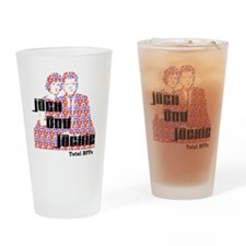light jack and jackie Drinking Glass