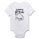 &quot;I Love My Bully&quot; Black Infant Bodysuit