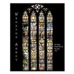 Wroxton Abbey Chapel Glass. Small Poster