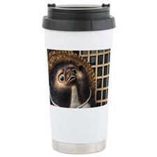 Tanuki: Cheerful Racoon Dog sta Ceramic Travel Mug
