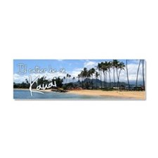 BumperStickerKapaaBeach Car Magnet 10 x 3