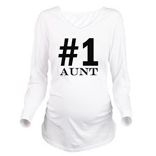 Number 1 Aunt Long Sleeve Maternity T-Shirt