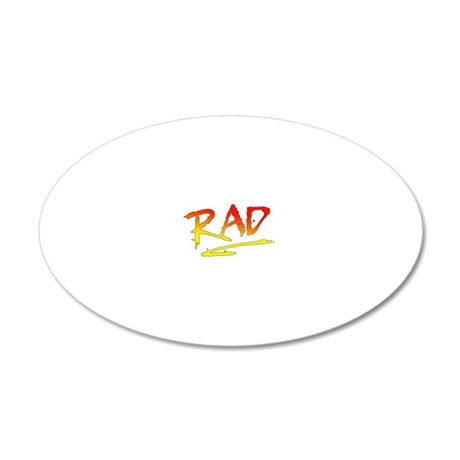 Rad_gradient2 20x12 Oval Wall Decal