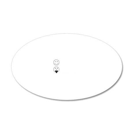 Alt Universe Me White 20x12 Oval Wall Decal