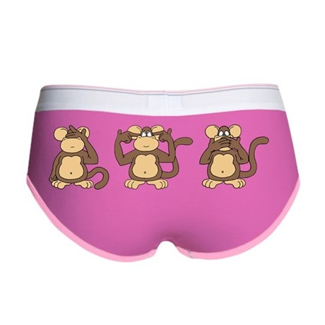 Three Wise Monkeys Women's Boy Brief