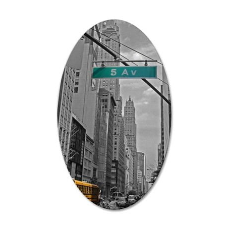 New York, 5th ave 35x21 Oval Wall Decal