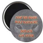 Stop the wolf massacre Magnet