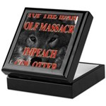 Stop the wolf massacre Keepsake Box