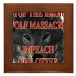 Stop the wolf massacre Framed Tile