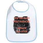 Stop the wolf massacre Bib