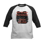 Stop the wolf massacre Kids Baseball Jersey