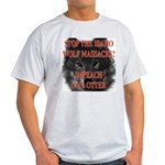 Stop the wolf massacre Ash Grey T-Shirt