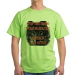 Stop the wolf massacre Green T-Shirt