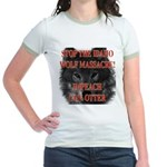 Stop the wolf massacre Jr. Ringer T-Shirt