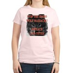 Stop the wolf massacre Women's Pink T-Shirt
