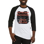 Stop the wolf massacre Baseball Jersey