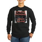 Stop the wolf massacre Long Sleeve Dark T-Shirt