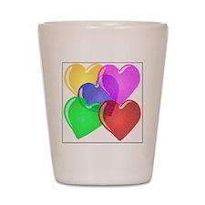 Hearts-4 Shot Glass