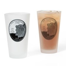 coin-quarter-new-hampshire Drinking Glass