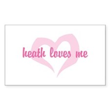 """heath loves me"" Rectangle Decal"