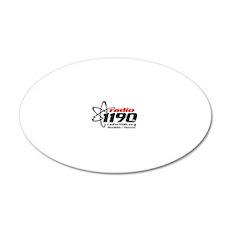 Radio 1190 black logo 20x12 Oval Wall Decal