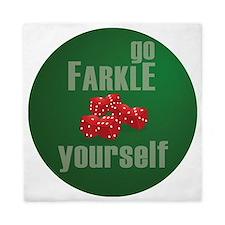 Farkle Yourself 12x12 round Queen Duvet