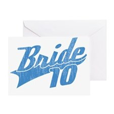 Team Bride 2010-blue Greeting Card