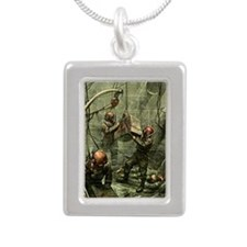 SALVAGE DIVERS Silver Portrait Necklace