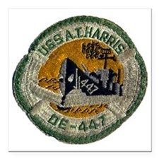 """atharris patch transpare Square Car Magnet 3"""" x 3"""""""