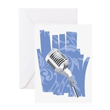 microphone Greeting Card