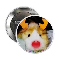 "Guinea Pig Christmas 2.25"" Button"