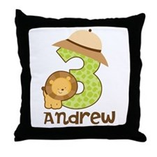 Personalized 3rd Birthday Throw Pillow