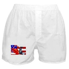 Patriotic Puppy Boxer Shorts