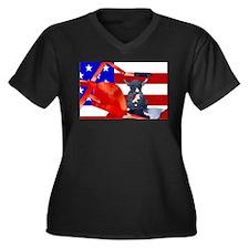 Patriotic Puppy Plus Size T-Shirt