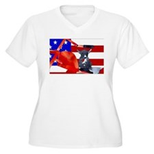 Patriotic Puppy Plus Size T-Shirt