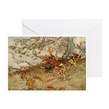 Joy of a Falling Leaf Greeting Card