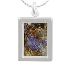 Fairy - Arthur Rackham Silver Portrait Necklace