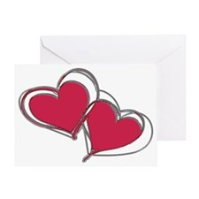 TWO HEARTS AS ONE Greeting Card