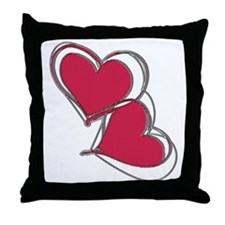 2-TWO HEARTS AS ONE Throw Pillow
