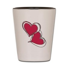 2-TWO HEARTS AS ONE Shot Glass