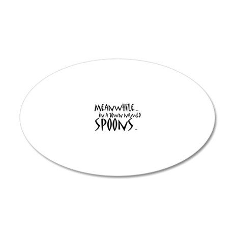 spoons 20x12 Oval Wall Decal